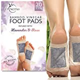 Crescena Footpads   Remove Impurities and Cleanse   Aids in Relieving Stress and Tension   Reduces Foot Odor   Pain Relief   All-Natural Lavender 'n Rose   Organic Foot Pads   20 Piece Patch