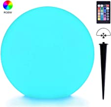 LOFTEK LED Ball Light, 8-inch RGB Colors Changing Floating Pool Lights, IP65 Waterproof Glow Orb,Upgraded Rechargeable Battery, Hanging Glow Orb for Lawn,Patio or Pool