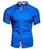Kayhan Hombre Camisa Manga Corta, Hawaii Blau (M)