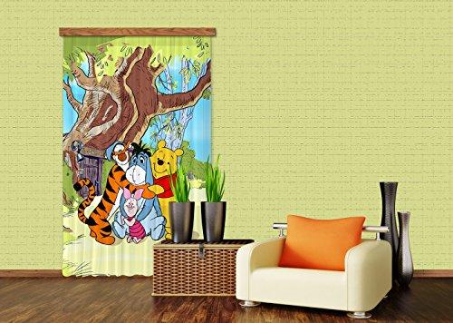 AG Design fCC l/4110 Rideau Voilage pour Chambre d'enfant Motif Winnie l'ourson de Disney