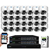 GW Security 32 Channel 4K NVR 5MP Outdoor Indoor Security Camera System - 32 x Dome 5MP 1920P Weatherproof 2.8-12mm Varifocal Zoom IP PoE Cameras, Pre-Installed 8TB Hard Drive