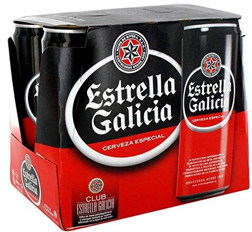Estrella Galicia Cerveza Especial PACK 6 Latas 33cl