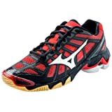 Mizuno Women's Wave Lightning RX2 Volleyball Shoe,Black/Red,7.5 B US
