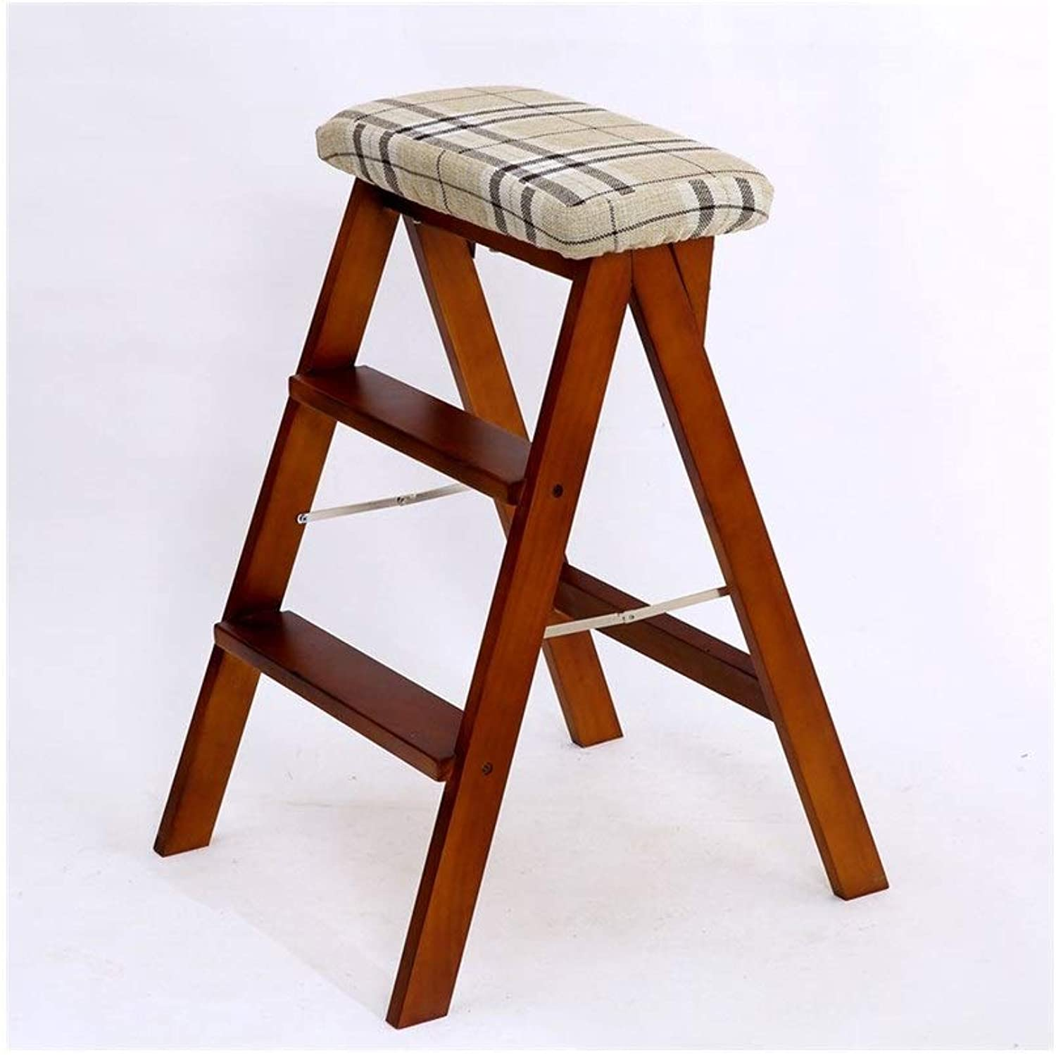 Staircase Solid Wood Folding Step Stool, Kitchen Foot Stool, Portable Stool, Folding Ladder Chair. (color   B)
