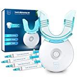 Neitra Teeth Whitening Kit with LED Light, 10 Min Fast Tooth Whitening Results, (4) 3ml No Sensitive Whitening Gel, 5LED Teeth Whitener Accelerator, Tooth Whitening Kit at Home(Sensitive Series)
