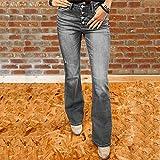 Pantalones Jeans Pantalones Vintage De Talla Grande Mom Flare Jeans para Mujer Pantalones De Mezclilla Lavados...