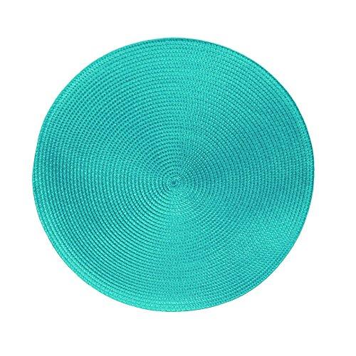 Manteles individuales, serie MARRAKESCH, lavables, 4 unidades, diferentes tamaños y colores, fibra sintética, turquesa, Ø 38 cm