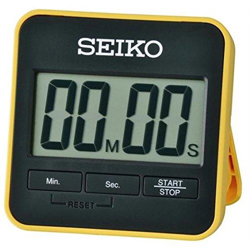 Seiko - Temporizador con Cuenta atrás y cronómetro Digital de plástico Amarillo
