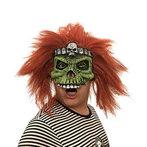 LBAFS Halloween Maske Adult Scary Ostern Maske Mit Perücke Horror Skull Requisiten Ball Maske
