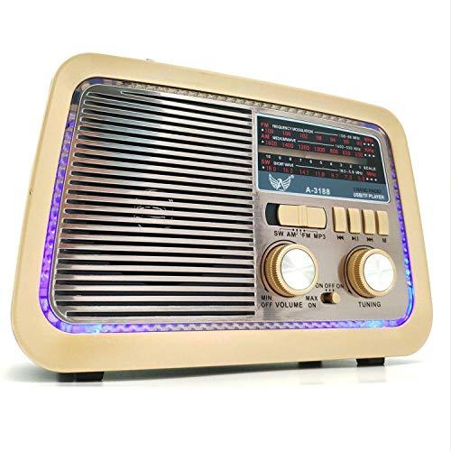 Caixa Som Retro Vintage Radio Am Fm Bluetooth Sd Top Altomex