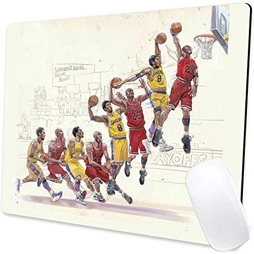 Gaming Mouse Pad,Memory Kobe and Jordan Mouse Pad Non-Slip Rubber Base Mouse Pads for Computers Laptop Office,9.5'x7.9'x0.12' Inch(240mm x 200mm x 3mm)