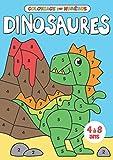 Coloriage par numéros Dinosaures: Apprends les chiffres en t'amusant avec ces gentils petits dinosaures à colorier | Livre de coloriage pour enfants de 4 à 8 ans
