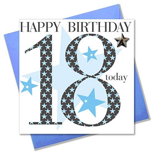 Claire Giles verjaardagskaart voor jongens van 18 jaar