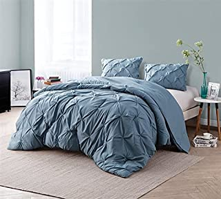 Byourbed Smoke Blue Pin Tuck King Comforter