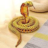 LTLGHY Brinquedo De Cobra De Simulação, Modelo De Cobra De Grande Pitão, Adequado para Cobra Presente Interessante Brinquedo De Pião para Holloween,Oro