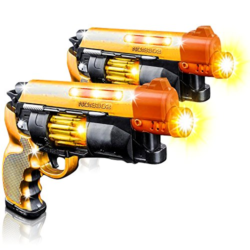 Blade Runner Toy Pistol by ArtCreativity Toy Gun for Kids with LED and Sound Effects Design Batteries Included Sturdy Plastic Design Great Gift Idea for Boys and Girls  2 Pistols