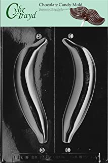 Cybrtrayd Life of the Party F064 3D Banana Fruit Chocolate Candy Mold in Sealed Protective Poly Bag Imprinted with Copyrighted Cybrtrayd Molding Instructions