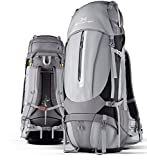 Ghostek NRGcamper Hiking Camping Backpack + 11W Solar Panel (Grey)