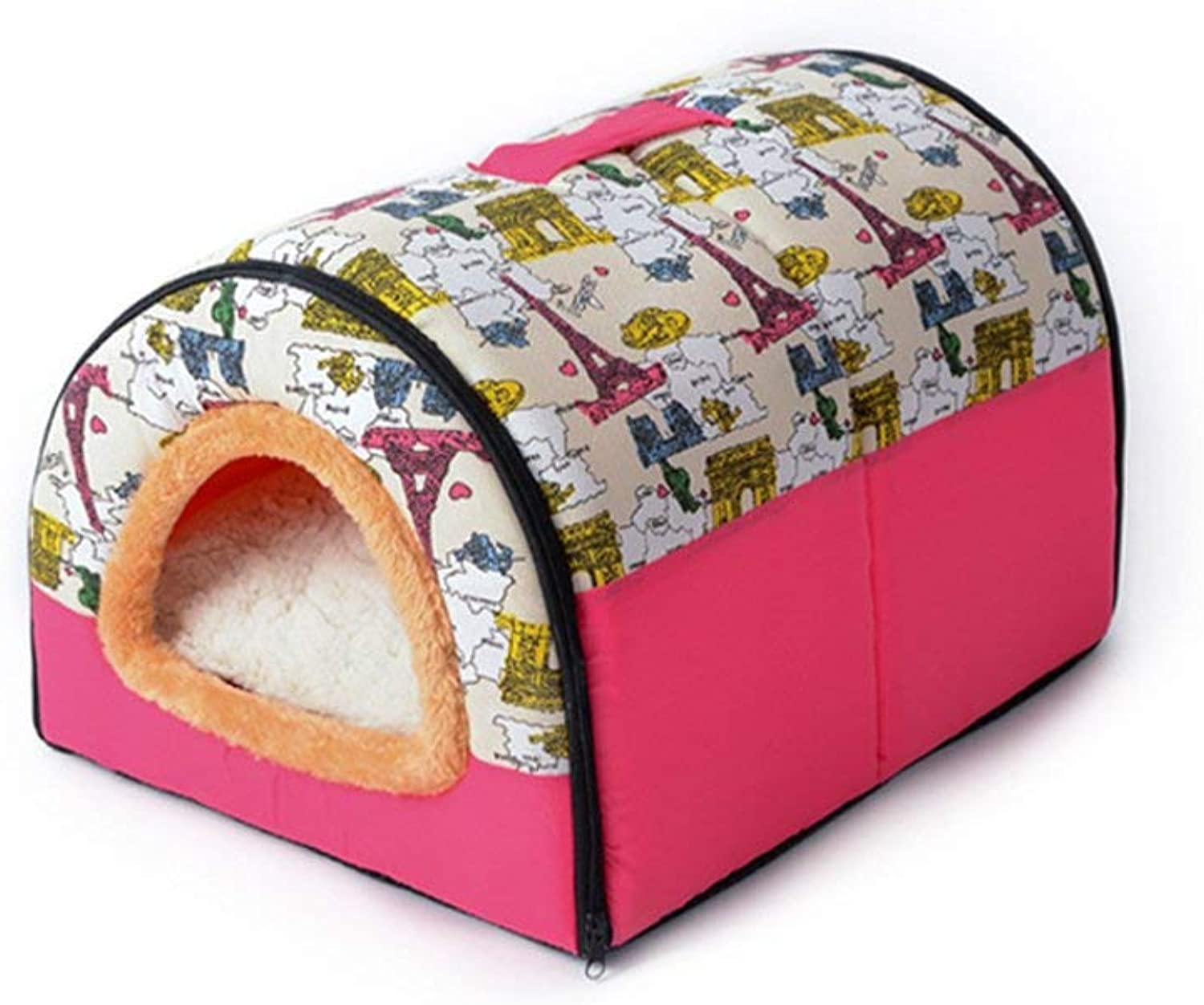 Pet Bed Kennel Cat Litter Pet Nest Kennel Cat Litter Cat House Round Nest Triangle Nest Dualuse Nest Four Seasons Universal Special Nest Pet Bed (Size   L) (Size   S)