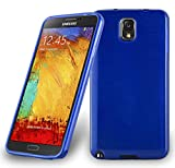 Cadorabo Case works with Samsung Galaxy NOTE 3 in BLUE –