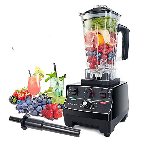 Blender Professional Countertop Blender, 2200W High Speed Smoothie Blender/Mixer for Shakes and Smoothies, commercial blender Crusing Ice, Frozen Desser with Timer, 68OZ BPA-Free Tritan Jar, Smoothie Maker Grey BATEERUN (Model2)