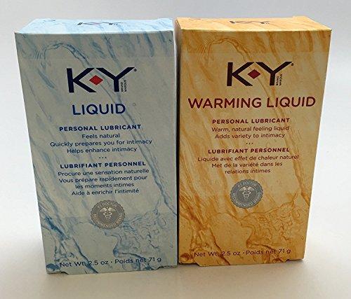 K-Y Pack - Liquid Personal Lubricant 2.5 Oz & Warming Liquid - 2.5 oz