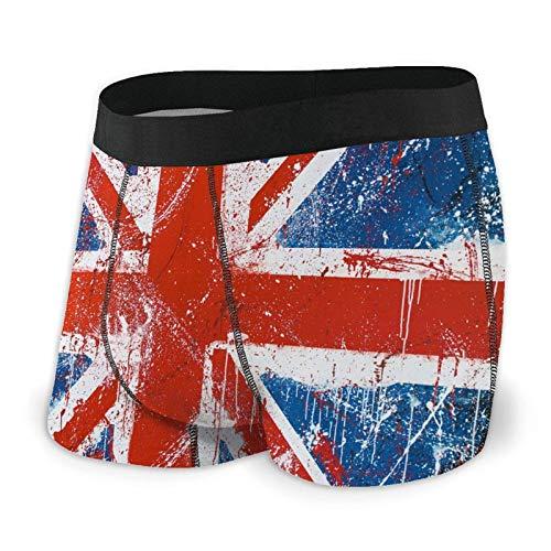 QUEMIN Herren Unterwäsche Painted England Flag Boys Boxershorts Trunks Bequemes Training Klassische schweißfeste Bikinihöschen, XL