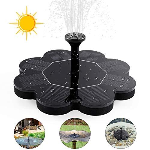 ZOTO Bomba de Agua Solar, Forma de Crisantemo Accionada la Bomba de la Fuente del baño Solar Lindo, Solar Kit de Bomba de Agua, para Pequeño Estanque Fish Tank Decoración del Jardín