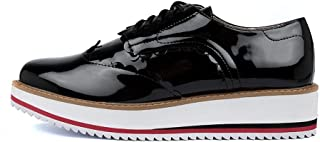 WALNUT Mila Scallop LACE-UP-WA Womens Shoes Flats Shoes