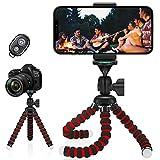 Lunriwis Trípode para Móvil, Trípode Flexible de Pulpo con Disparador Remoto por Bluetooth,rotación de 360°, Palo Selfie Compatible con Smartphone, Portátil, Phone Samsung GoPro