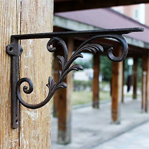 Huangjiahao Shelf Brackets Gietijzeren Ornate Plank Beugel Wandplank Brackets Ondersteunt Voor Huis En Tuin voor Boekenplank, Keuken Home Decor