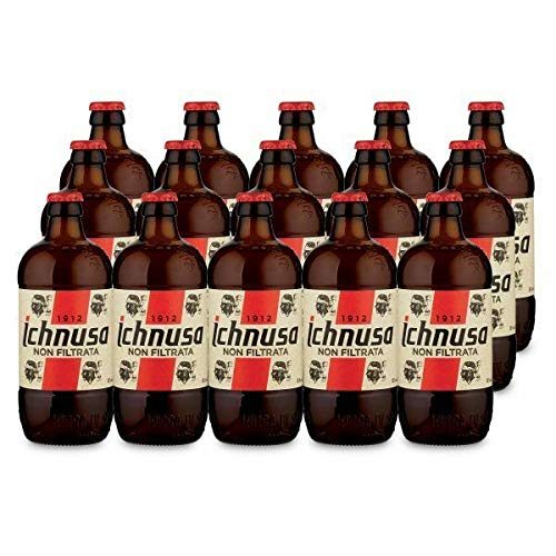 BIRRA ICHNUSA NON FILTRATA - Cartone da 50 CL - (15 Bottiglie)