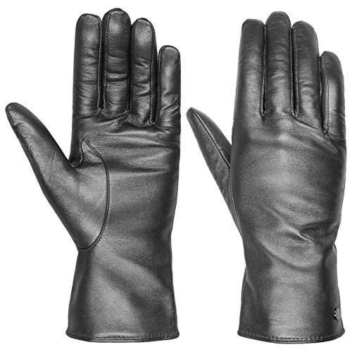 Roeckl Scotchgard Leder Damenhandschuhe Winterhandschuhe Fingerhandschuhe (8 HS - silber)