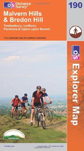 OS Explorer map 190 : Malvern Hills & Bredon Hill