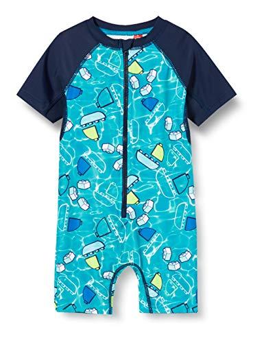 Lego Wear Baby - Jungen LWALBERT UV Einteiler LSF 50 Plus Schwimmshirt, per Pack Blau (Dark Navy 590), 86 (Herstellergröße: 86)