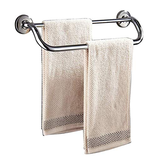 Fácil de colocar para cocina y baño |Toallero de ducha para hotel |Toallero de pared |Níquel cepillado de doble varilla multifuncional (tamaño: 44 5 cm)
