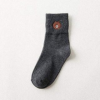Calcetín de algodón para Mujer Calcetines Cortos para Mujer Bear Calcetines Tobilleros para Mujer Algodón cómodo Casual Transpirable