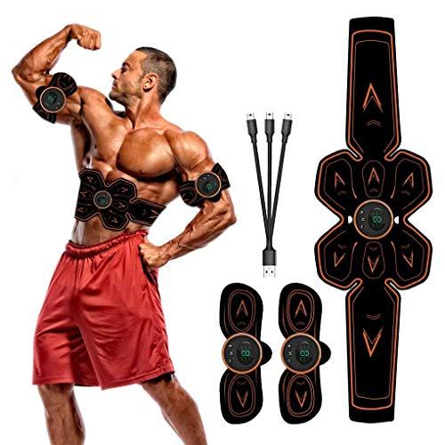 OuLiSi Estimulador Muscular ABS Trainer, Entrenador AB Recargable USB, tóner AB para...
