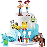 6PCS Toy Story Cake Topper, Children's Mini Toy Cake Topper, Birthday Party Supplies-Happy Birthday Party Dessert Table Decorations (Toy Story)
