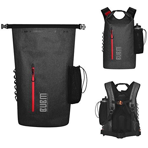 BUBM Wasserdichter Reise Outdoor Sportrucksack - Backpack 35L 500D PVC, Wasserdichter Outdoor Rucksack, Gepolsterter Schultergurt, Geeignet für Reisen, Radfahren, Camping, Bergsteigen, Rafting