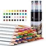 Reeamy-Home Lapices de Colores Suministros solubles en Color Arte del lápiz por Estudiantes Dibujar con lápiz de Color Herramientas de Pintura (Color : Multi-Colored, Size : 36)