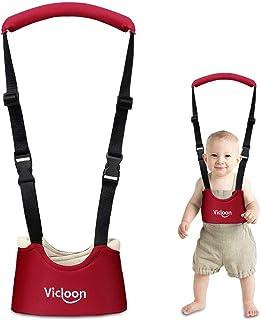 Vicloon Loophulp Voor Baby's, Loopleren, Instelbare Met Veiligheidssluiting en Magische Stickers, Ademend, Staand Lopen Le...