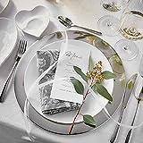 Butlers Piatto Deko-Teller Ø 35 cm - Servierteller in Silber-Optik - Dekorative Schale als Platzteller aus Edelstahl - 9