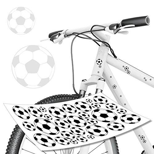 style4Bike Fussball WM EM Fahrradaufkleber Set für Fahrrad Bälle Fussbälle Sticker