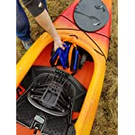 """THEKAYAKCART KC-7 Ultra Portable Kayak & Canoe Cart 16 TheKayakCart has an extremely flexible cradle adapts to various hull shapes. Comes with dual strap attachments, buckles and hook.. Wheels are removable via quick release pins. 7"""" co-polymer wheels w rubber tread will cover just about any terrain. """" Weight capacity is 165 lbs. Weight is 2.85 Lbs. Dim.13.25"""" x 10"""" x 10 With TheKayakCart getting your kayak or canoe to the water by yourself has never been easier. Just strap, roll, and launch! Durably designed and engineered for SIT IN RECREATIONAL kayaks, canoes, and rowing shells, TheKayakCart can be quickly, easily, and securely attached in minutes to any shaped bow or stern. TheKayakCart has three optional wheel types."""