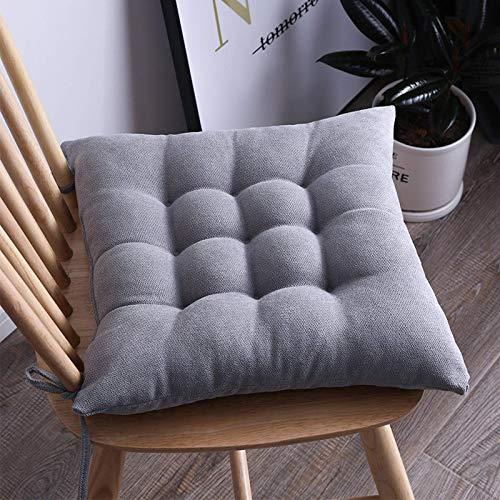 Cojín de madera maciza suave para silla de sofá, cojín lumbar para silla de comedor, cojín cuadrado elástico para silla de coche, cojín para exterior