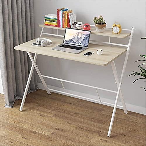 FGDSA Mesa de Ordenador Ligera Escritorio Soporte Plegable para Ordenador portátil Mesa de Cuidado Mesa de Centro Mesa para Ordenador portátil Mesa Auxiliar para Cama sofá sofá Nogal