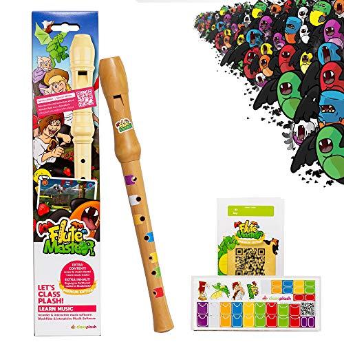 Holz Blockflöte für Kinder – inkl. App'Flute Master' – Flöte spielen lernen ab 6 Jahre (Sonderedition...