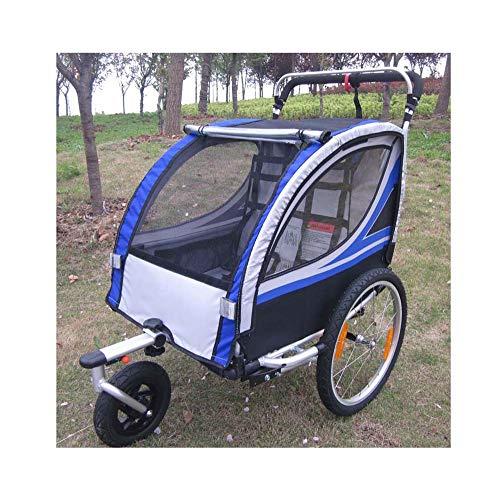 Vélo Poussette remorque - Cadre en Aluminium Design Pliable - Shock Absorbing Spring - Peut accueillir 1~2 Enfants - Jogger Baby Buggy