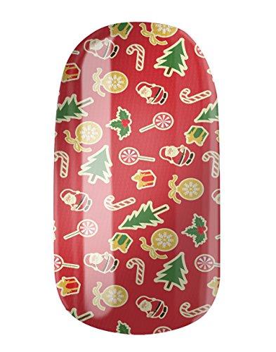 Glamstripes/Christmas World autoadesivo con design personalizzato, made in Germany, 12 fogli per unghie estremamente resistenti e di lunga durata.
